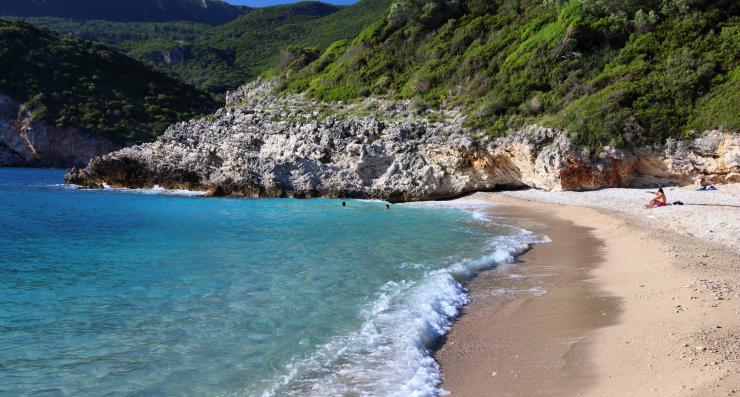Halikounas Beach, Corfu, Greece, Europe