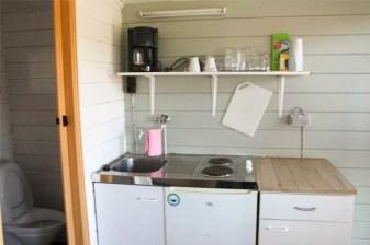 Hytte med køkken