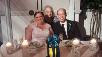 with bride and groom reception