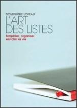 Couverture livre Art des listes
