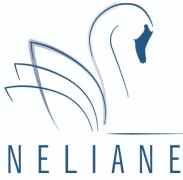 logo van Neliane, afbeelding van een zwaan