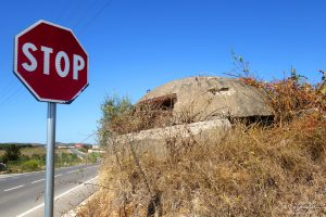 a bunker on the side of the road in Albania