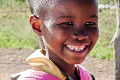 Smile of a little girl at Shewula Mountain Camp eSwatini Swaziland