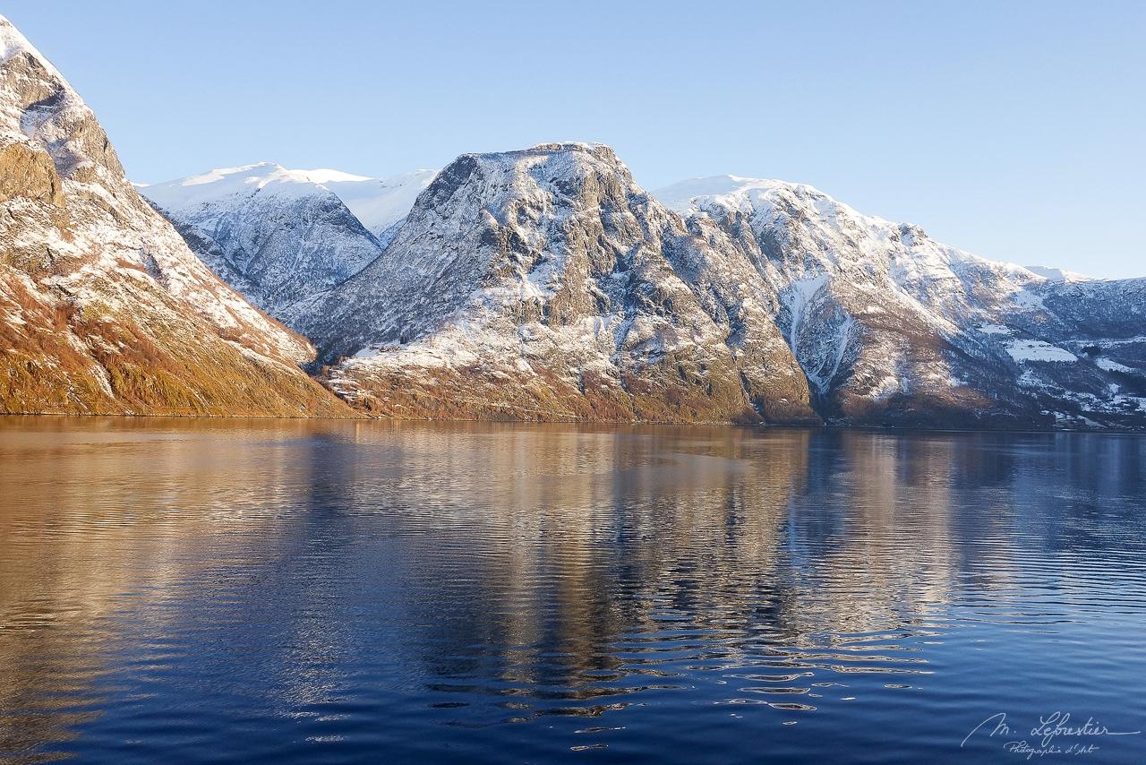 Aurlandsfjord in the winter Norway