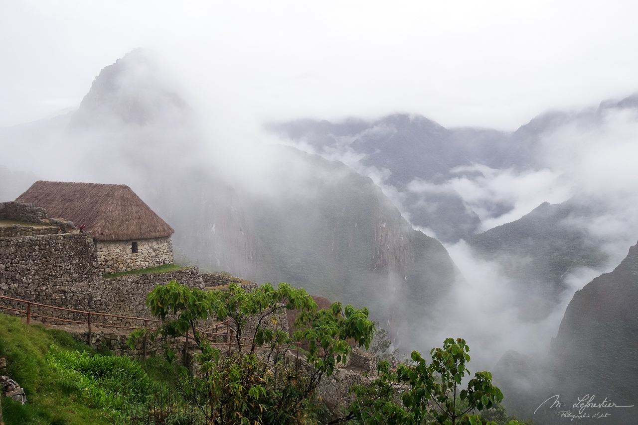morning mist on the Machu Picchu new world wonder