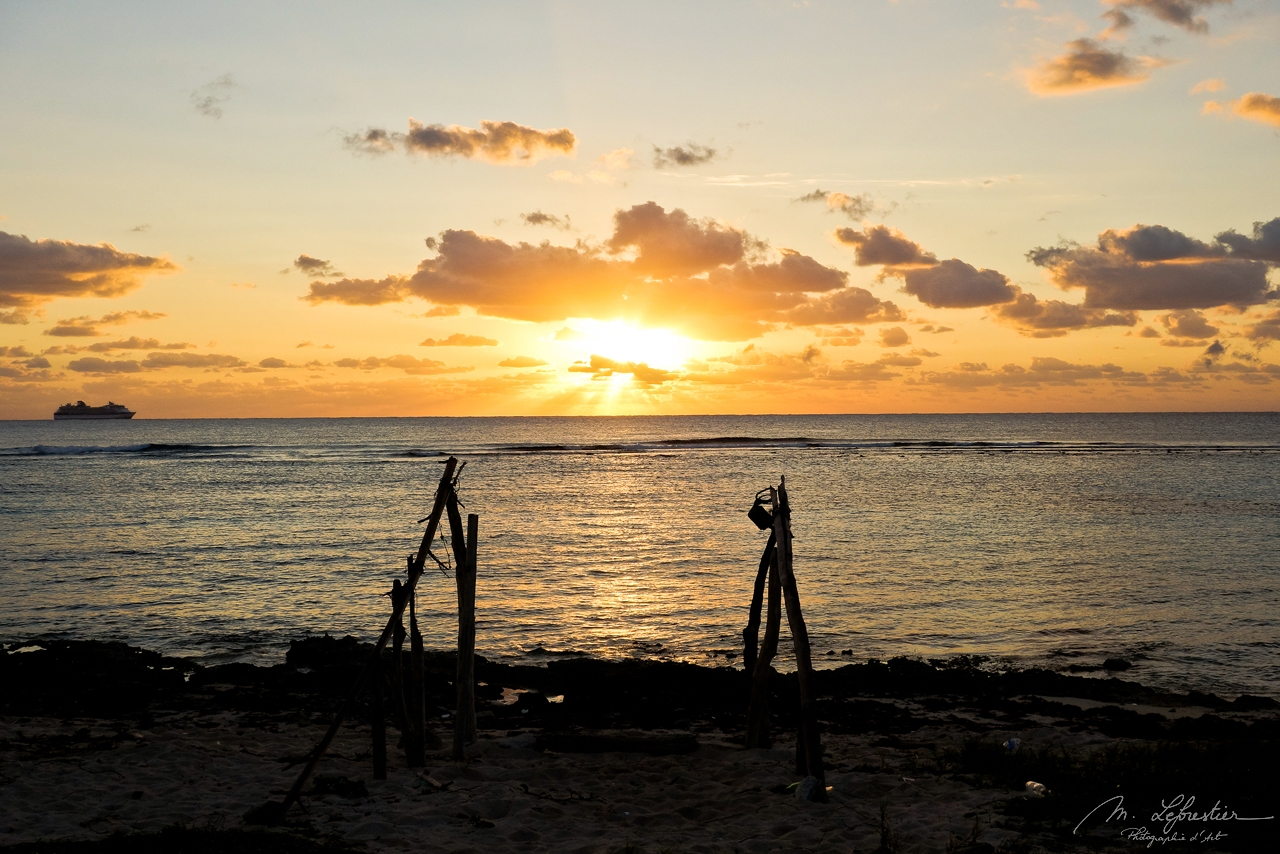 Sunrise Mahahual Beach Mexico