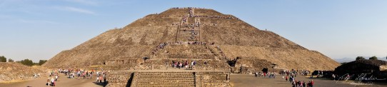view on the pyramid at Teotihuacan Mexico