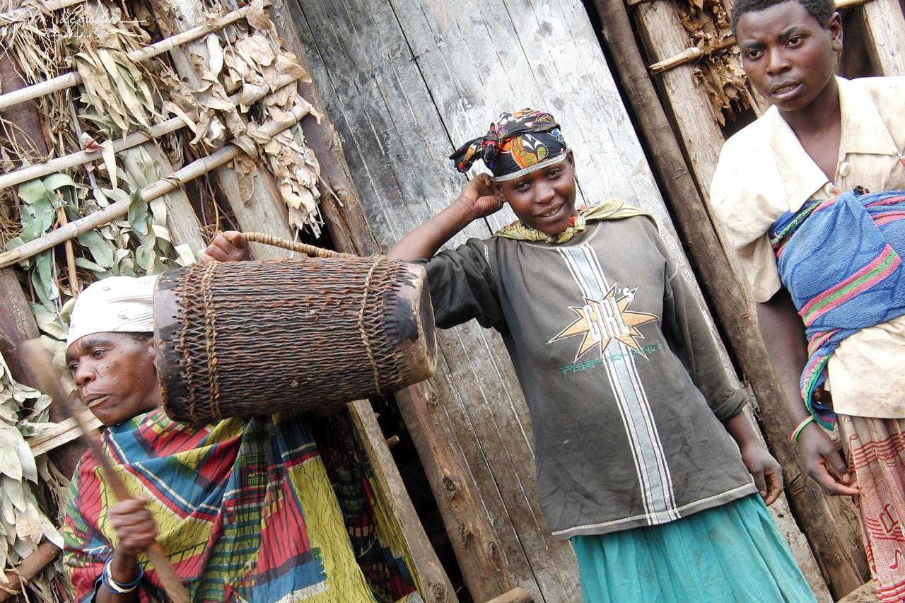 women of a pygmy twa tribe in Ruhengeri Rwanda