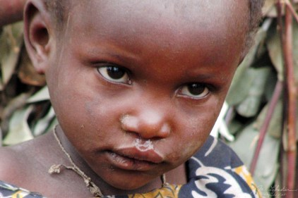 close up of a child of a twa tribe in Ruhengeri Rwanda