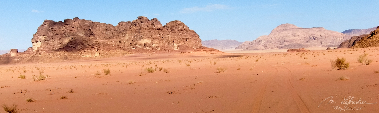 Wadi Rum landscape in Jordan Lawerence of arabia footsteps