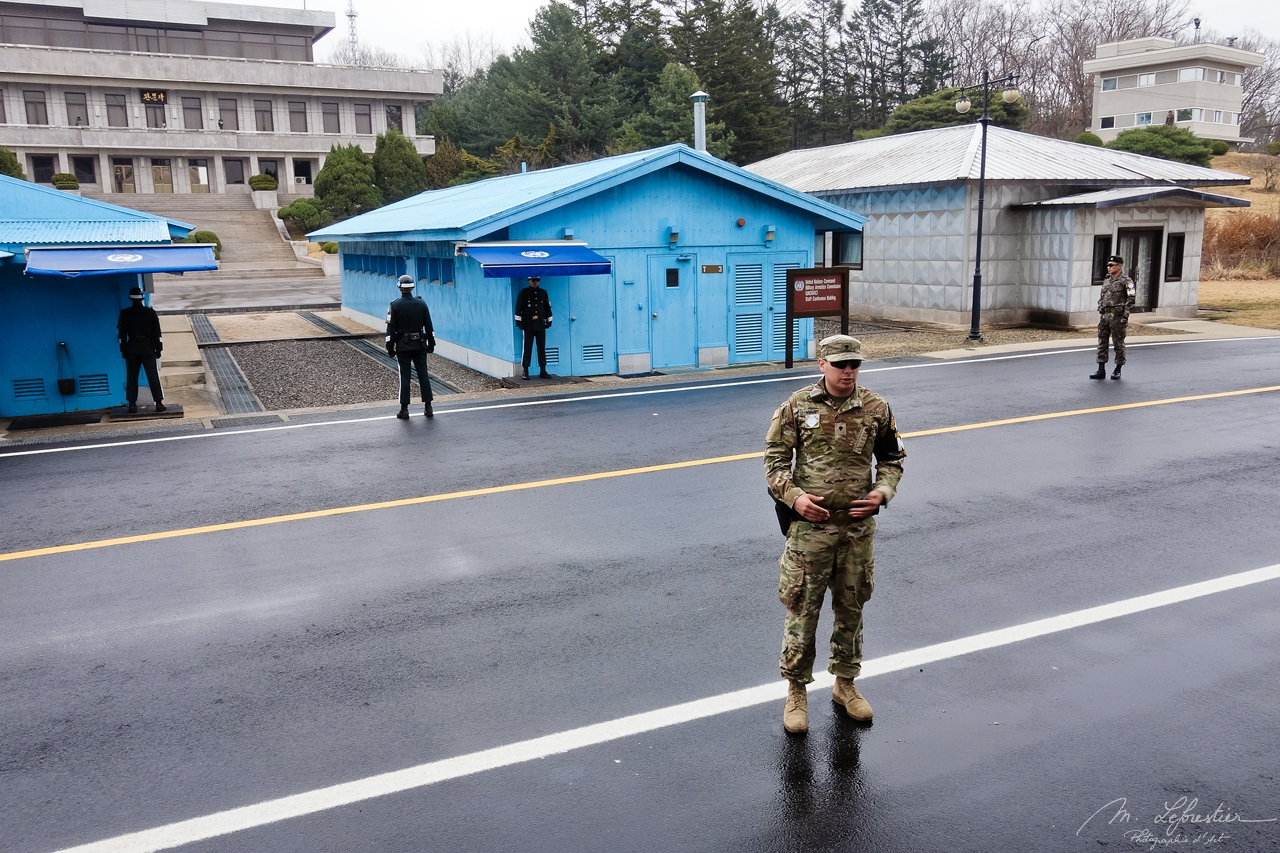 View of the North from the southern side of the JSA in the DMZ