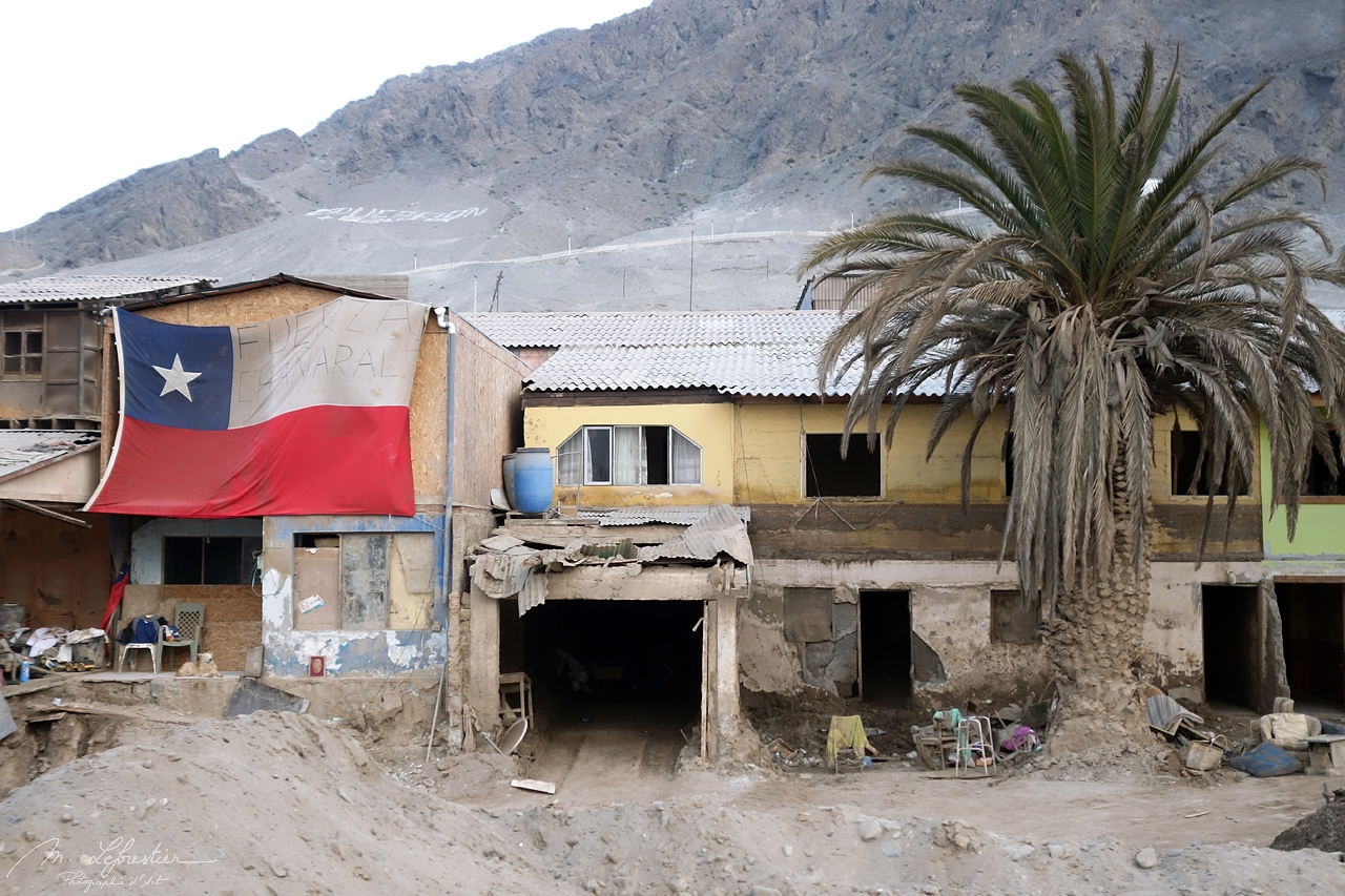 Chanaral after the heavy floods of 2015 in Atacama Chile