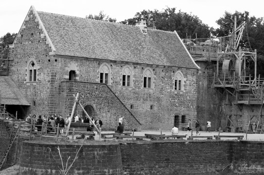 construction of the Guedelon castle back in 2011