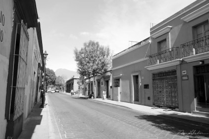 street of the historic center of Oaxaca in Mexico
