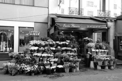 a flower shop in Paris
