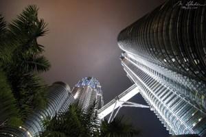 Petronas Towers by night Kuala Lumpur Malaysia tallest in the world
