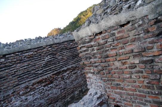 stones of the Poenari castle built in the 13th century