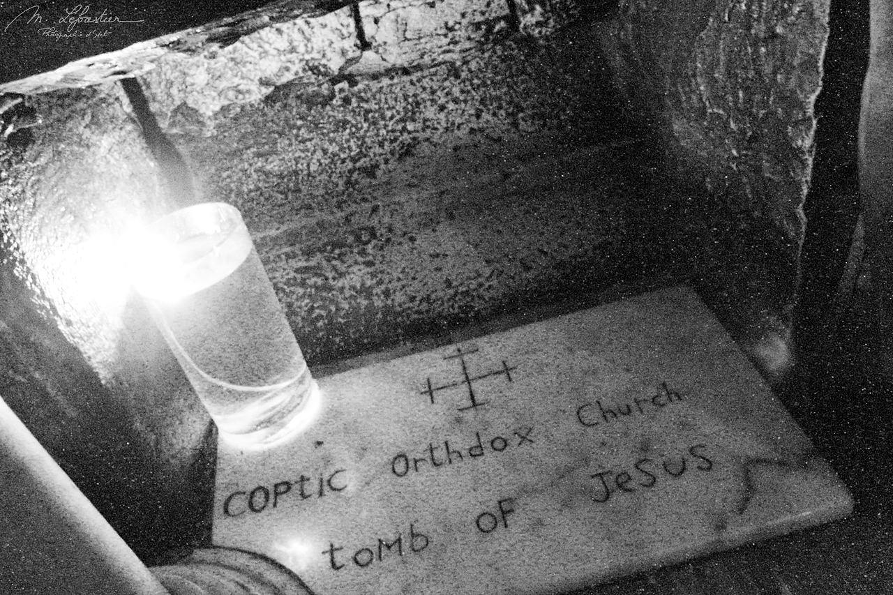 inscription on the tomb of Jesus in the Holy Sepulchre church