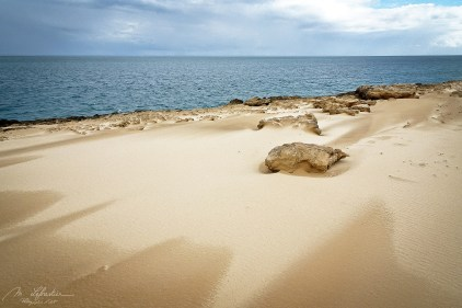 sand dunes by the Indian Ocean in the island of Bazaruto Mozamique Africa