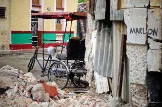 a bicycle transport in callejon de hamel in la havana cuba