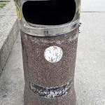 Sarajevo Bosnia Herzegovina street litter bin