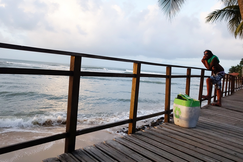 a bin watching every day the sunset by the beach in Pipa Brazil