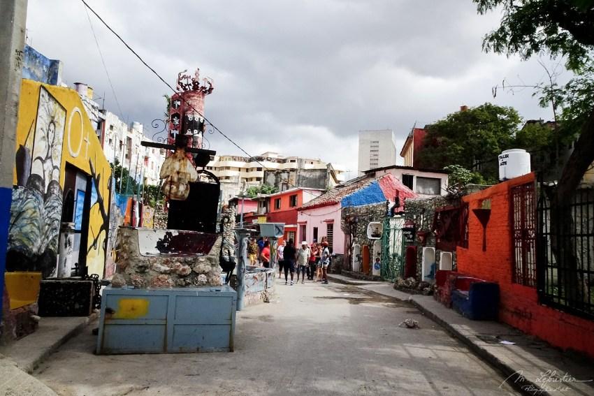 view on the street called Callejon de Hamel in la Havana Cuba
