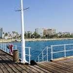 litter bin by the sea in Limassol Cyprus