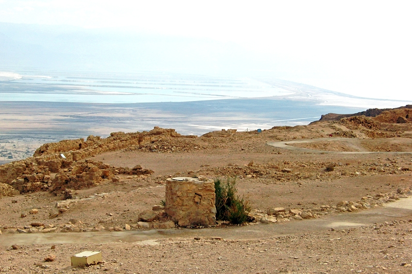 a perfect camouflage bin in Masada UNESCO world heritage site in Israel