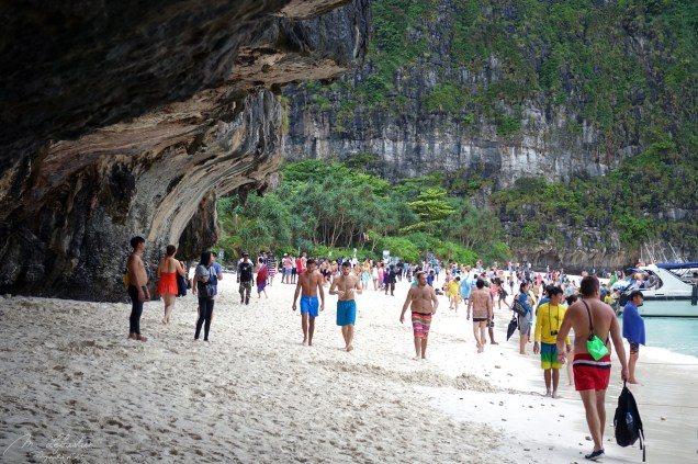 the Maya Bay in Thailand made known by the movie 'The Beach' with Leonardo di Caprio suffered from over tourism and is now closed until at least 2021