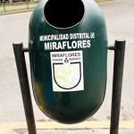 street litter bin in Miraflores in Peru ciudad heroica