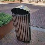 a trendy street litter bin in the village of Geldrop by Eindhoven in the Netherlands