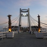 Albania: watch the sunset from the bridge on Ventus Harbor in Durres 1