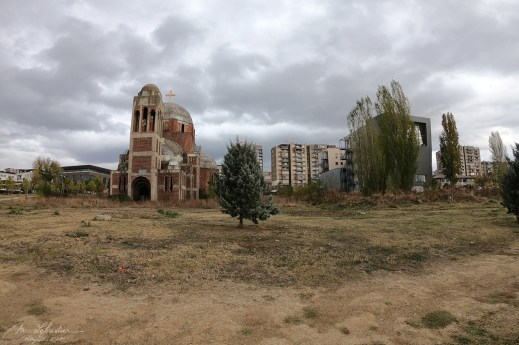 abandonned construction of this serbian orthodox church in Pristina Kosovo
