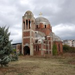 unfinished Serbian orthodox church in pristina, abandoned after the war