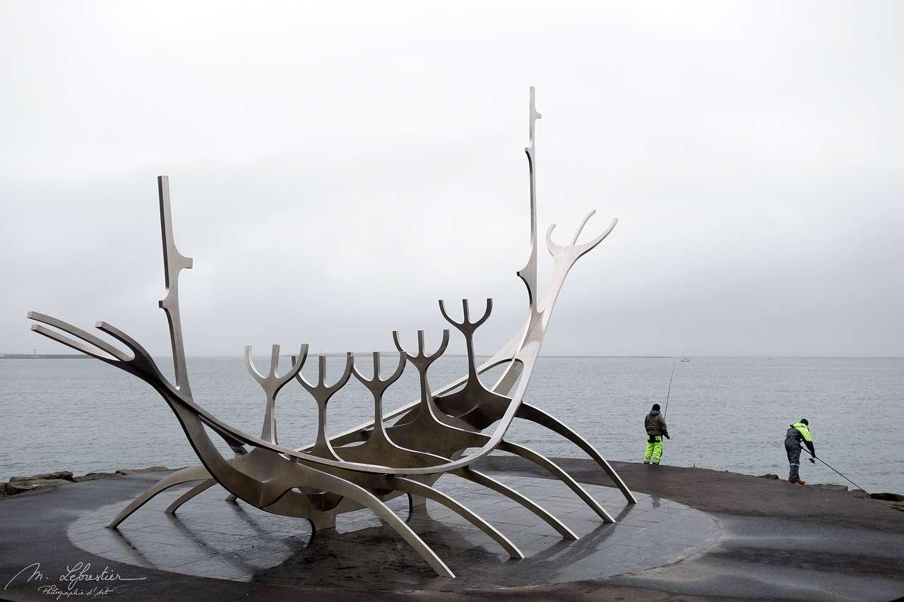 Sun voyager or Solfar sculpture in Reykavik Iceland