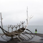 Sun voyager or Solfar sculpture in Reykavik Iceland
