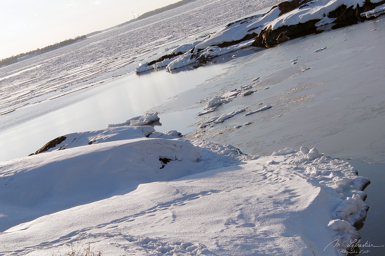winter snow in Suomenlinna Finland