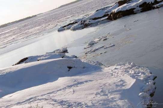 winter snow in Suomenlinna Finland
