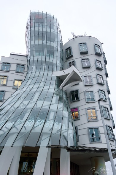 the famous dancing house in Prague capital of the Czech Republic