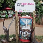 a decorated litter bin for a clean city in Maputo Mozambique