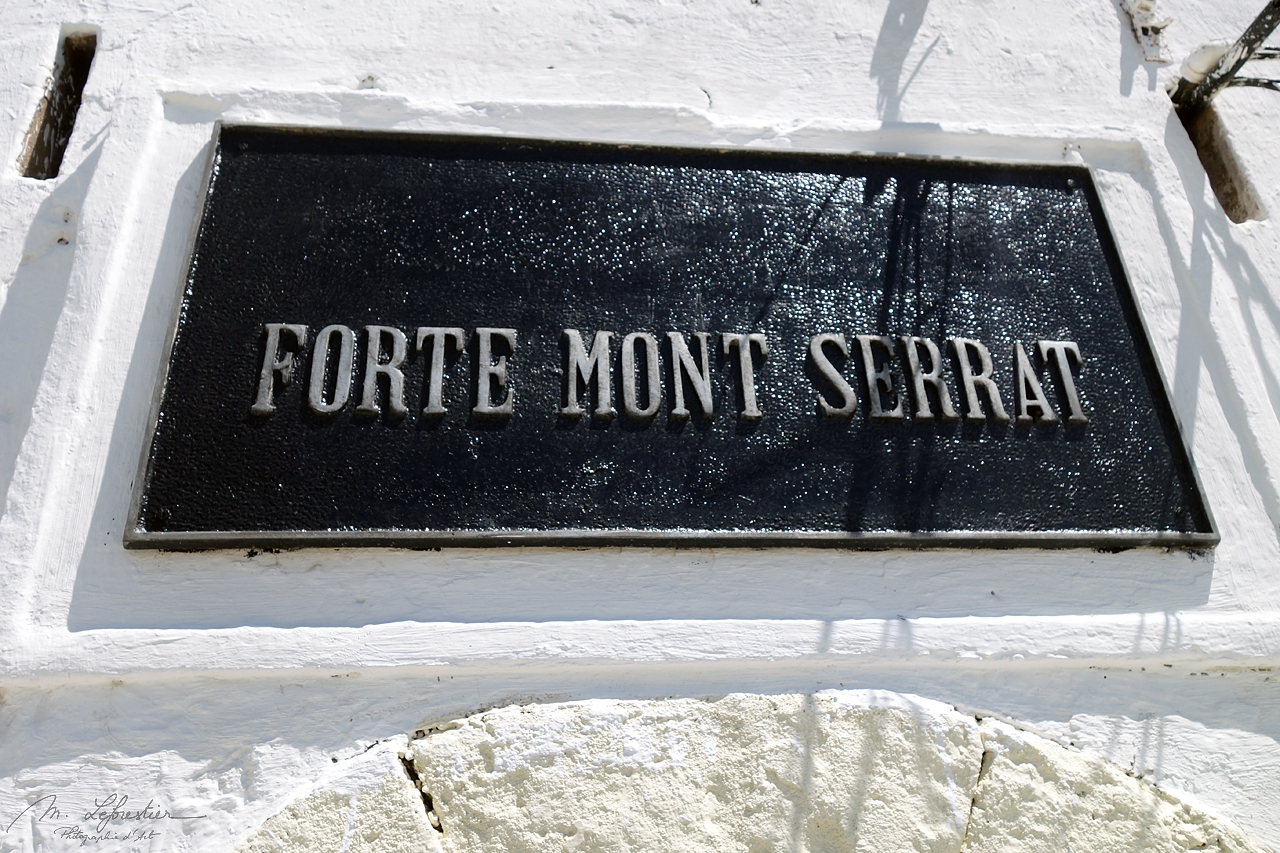 the sign at the Mont Serrat fort in Fortaleza brazil