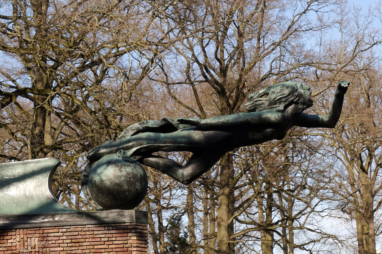 Calling Lady radio monument in the Stadswandelpark in Eindhoven, the Netherlands