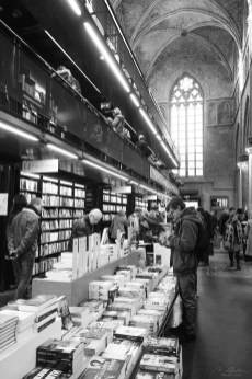 library inside an old church Maastricht