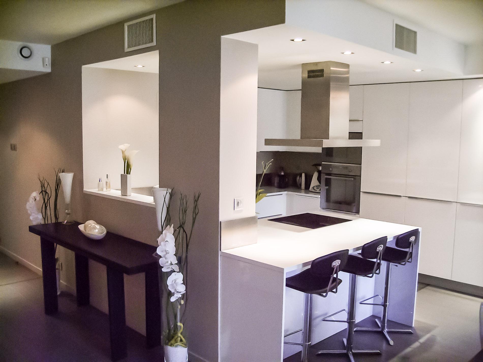 Appartement Lyon 6 Agencement Cuisine Design Ilot Central