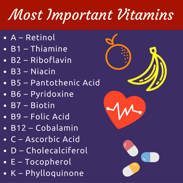 Most Important Vitamins