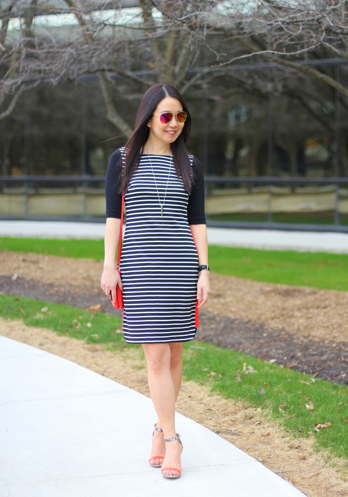 Outfit Highlight: The Stripe Dress + Shoe and Tell Link Up