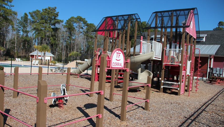 The playground at The Farm at Carolina Forest