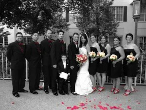Color splash wedding photography