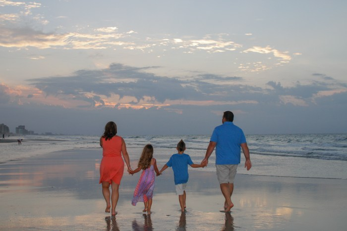The best time of day for family pictures in North Myrtle Myrtle Beach